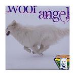 WOOF Angel Tile Coaster