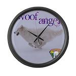 WOOF Angel Large Wall Clock