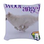 WOOF Angel Woven Throw Pillow