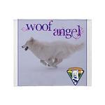 WOOF Angel Throw Blanket