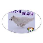 WOOF Angel Sticker