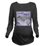 WOOF Angel Long Sleeve Maternity T-Shirt