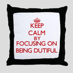 Being Dutiful Throw Pillow