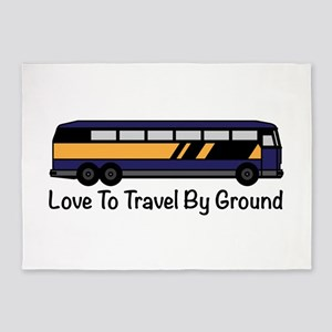 Travel by Ground 5'x7'Area Rug