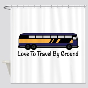 Travel by Ground Shower Curtain
