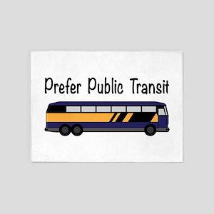 Prefer Public Transit 5'x7'Area Rug