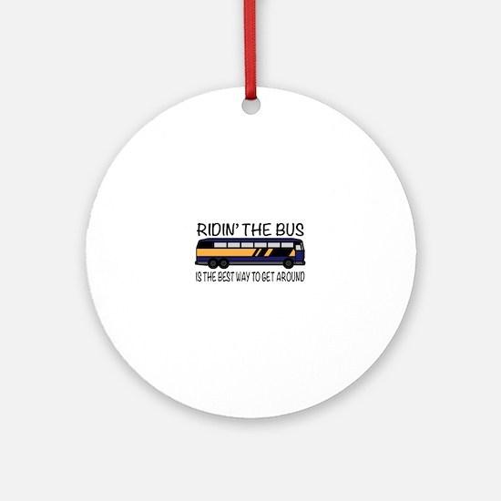 Ridin the Bus Ornament (Round)