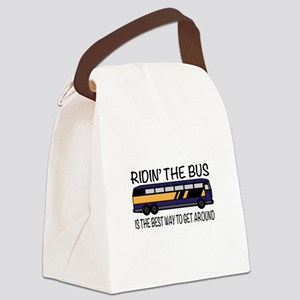 Ridin the Bus Canvas Lunch Bag