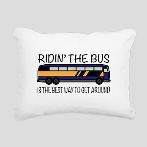 Ridin the Bus Rectangular Canvas Pillow