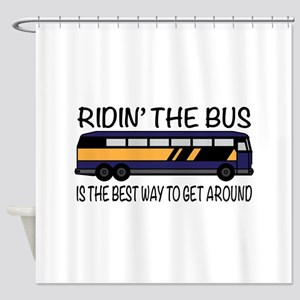 Ridin the Bus Shower Curtain