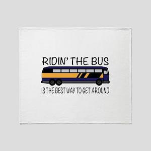 Ridin the Bus Throw Blanket