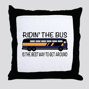 Ridin the Bus Throw Pillow