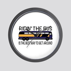 Ridin the Bus Wall Clock