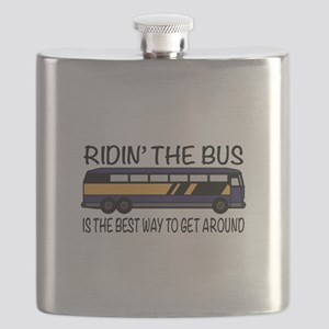 Ridin the Bus Flask
