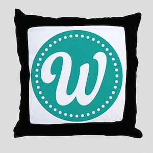 Letter W Throw Pillow