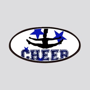Blue Cheerleader Patches