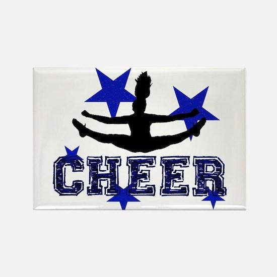 Blue Cheerleader Magnets