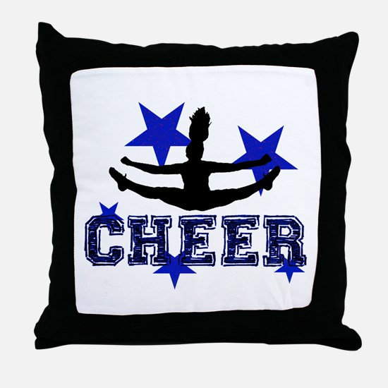 Blue Cheerleader Throw Pillow