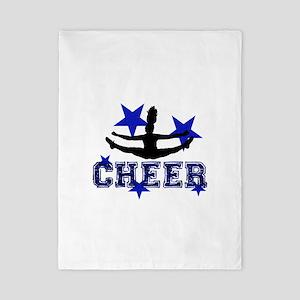 Blue Cheerleader Twin Duvet