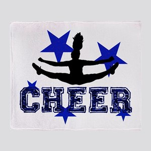 Blue Cheerleader Throw Blanket
