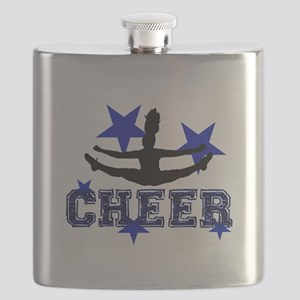 Blue Cheerleader Flask