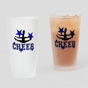 Blue Cheerleader Drinking Glass