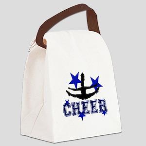 Blue Cheerleader Canvas Lunch Bag