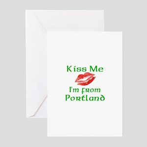 Kiss Me I'm from Portland Greeting Cards (Package