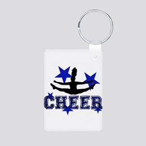 Blue Cheerleader Keychains
