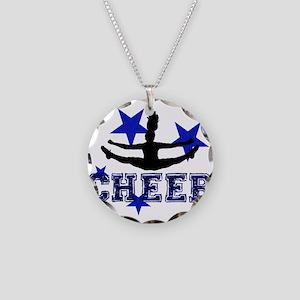 Blue Cheerleader Necklace