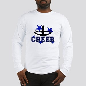Blue Cheerleader Long Sleeve T-Shirt