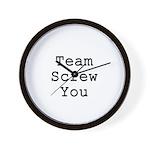 Team Screw You Wall Clock