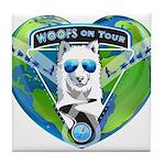 WOOF On Tour 2014 Tile Coaster