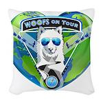 WOOF On Tour 2014 Woven Throw Pillow