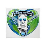 WOOF On Tour 2014 Throw Blanket