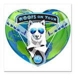 WOOF On Tour 2014 Square Car Magnet 3
