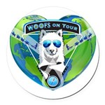 WOOF On Tour 2014 Round Car Magnet