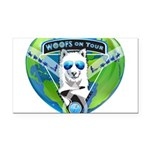 WOOF On Tour 2014 Rectangle Car Magnet