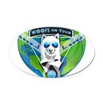 WOOF On Tour 2014 Oval Car Magnet