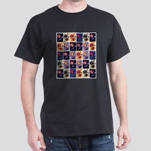 Autumn Leaves Rustic Patchwork Collage T-Shirt