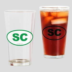 South Carolina SC Euro Oval Drinking Glass