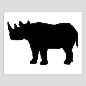 Rhinoceros Silhouette Posters