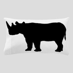 Rhinoceros Silhouette Pillow Case