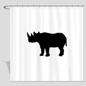Rhinoceros Silhouette Shower Curtain