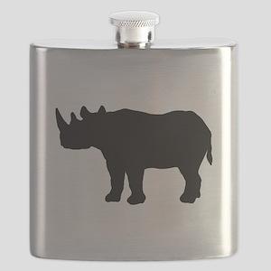 Rhinoceros Silhouette Flask