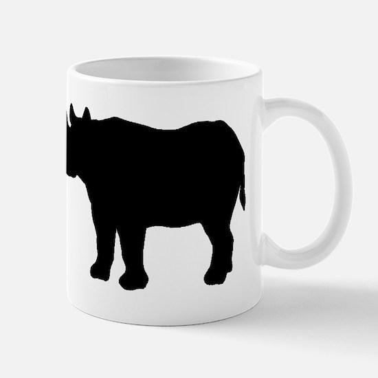 Rhinoceros Silhouette Mugs