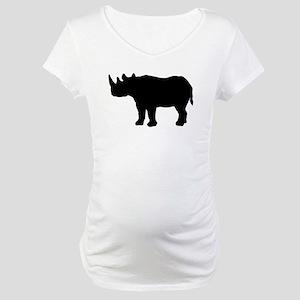 Rhinoceros Silhouette Maternity T-Shirt