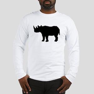 Rhinoceros Silhouette Long Sleeve T-Shirt