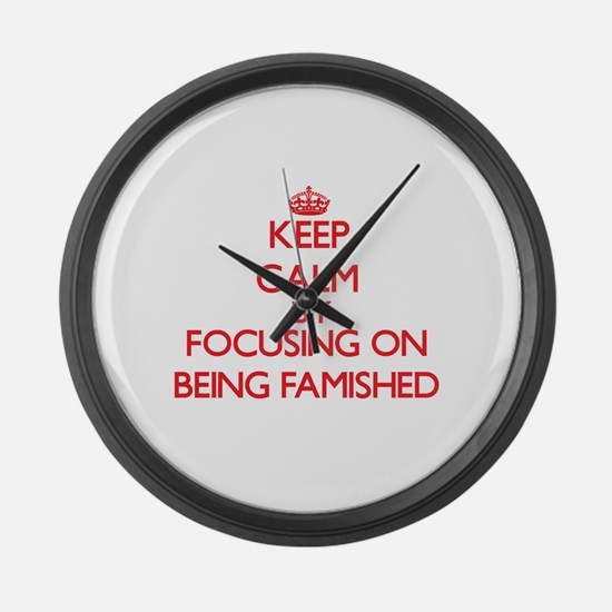 Being Famished Large Wall Clock