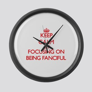 Being Fanciful Large Wall Clock